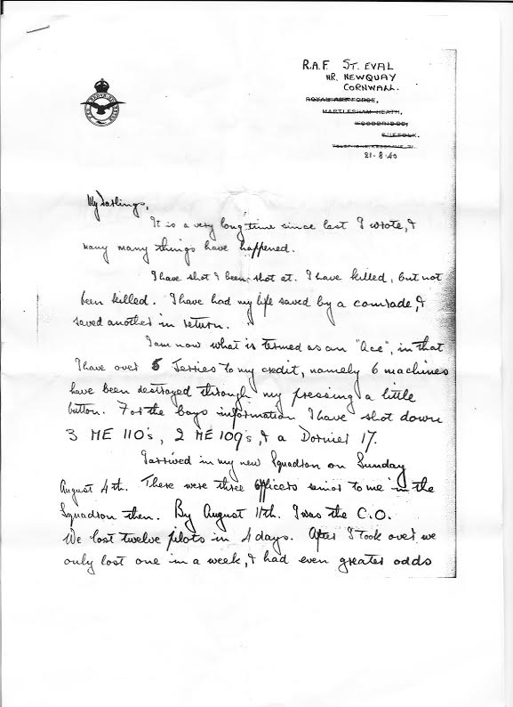 Battle of Britain Letter 1