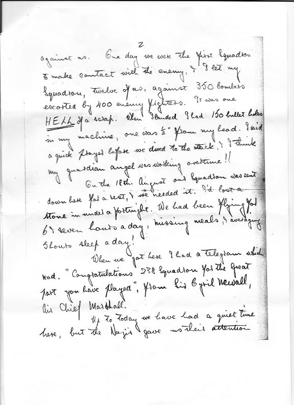 Battle of Britain Letter 2
